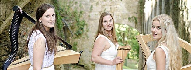 Sumerluft-harfe-gesang-panfloeten-Marion-Hensel-Katja-Amler-Evelyn-Schoefberger